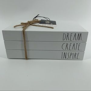 RAE DUNN DREAM.CREATE.INSPIRE TRIPLE BOOK STACK